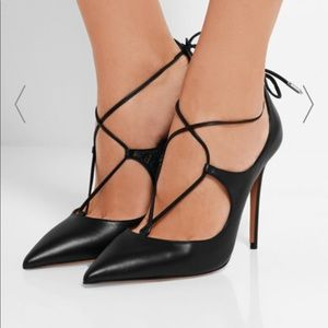 Christy lace-up leather pumps